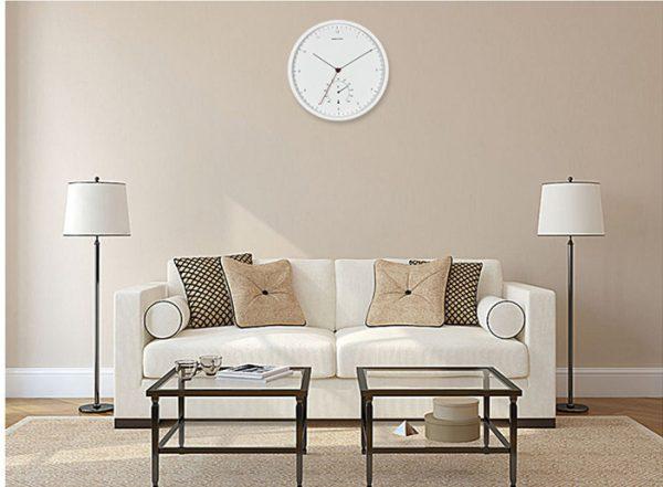 Đồng hồ treo tường trang trí có nhiệt kế DZ809D-264-71