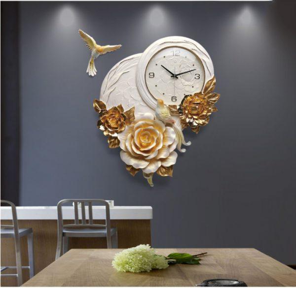 Đồng hồ trang trí nghệ thuật hoa Mẫu Đơn ZB01A