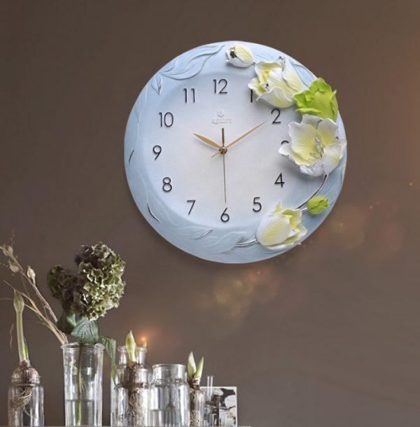 Đồng hồ trang trí nghệ thuật Hoa Tulip ZB010A
