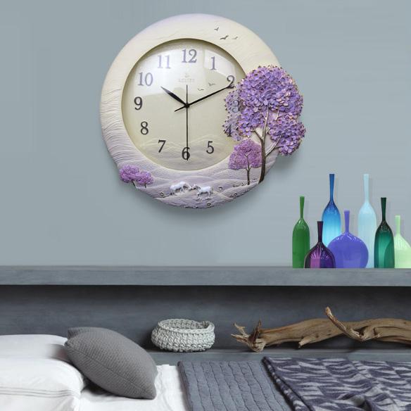 Đồng hồ trang trí phòng khách ZB020B mẫu 2018