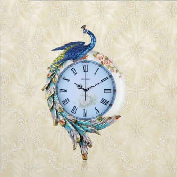 """Đồng hồ trang trí tạo hình """"chim khổng tước quý phái"""" DZ352X-8006"""