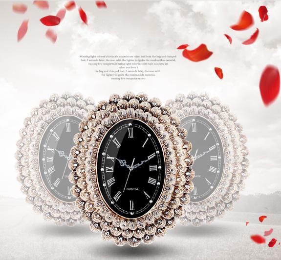 Đồng hồ treo tường trang trí đính đá KZ2024V
