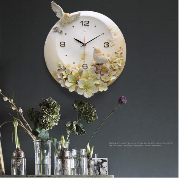 """Đồng hồ treo tường trang trí """"Vườn Xuân"""" ZB06B"""