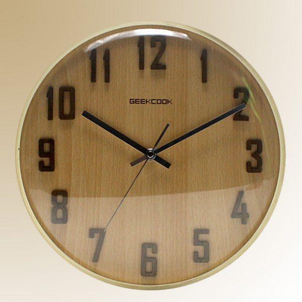 Đồng hồ treo tường vân gỗ sồi số nổi KZ808-030-33