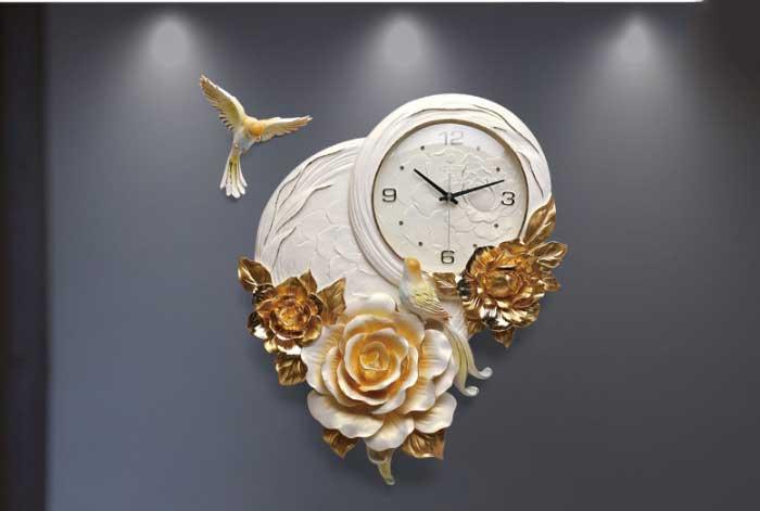 Đồng hồ trang trí nghệ thuật tạo hình hoa Mẫu Đơn ZB01A