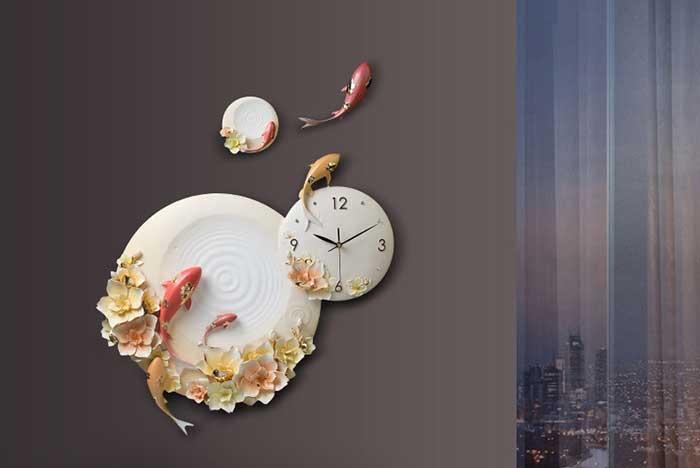 """Đồng hồ trang trí nghệ thuật """"Niên niên hữu dư"""" ZB042A"""