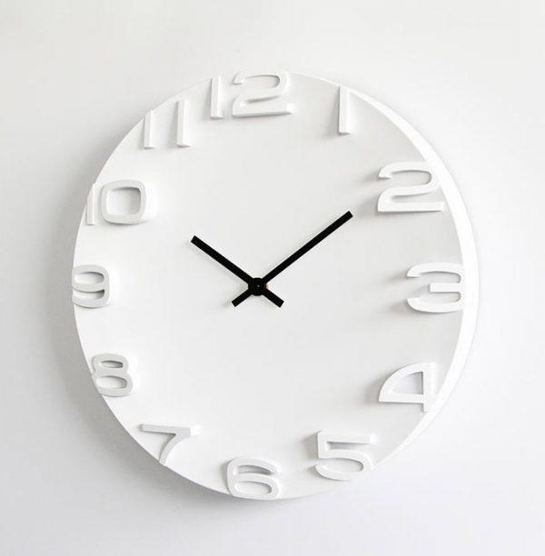 Đồng hồ trang trí phòng khách số nổi hai kim K8005