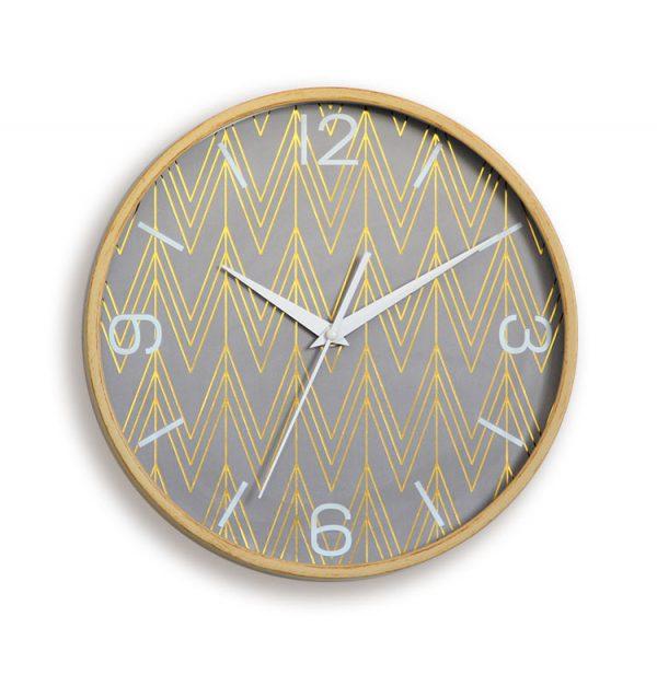 Đồng hồ trang trí treo tường viền gỗ tự nhiên KZ0071
