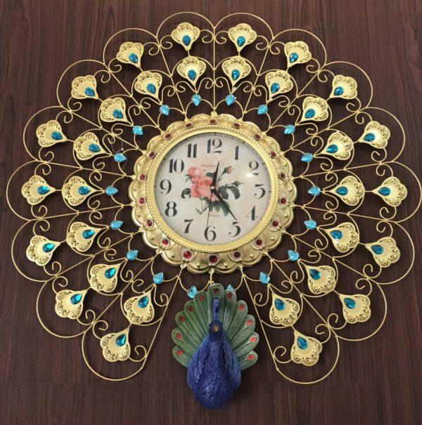 Đồng hồ treo tường tạo hình con Công sang trọng và quý tộc K2019A