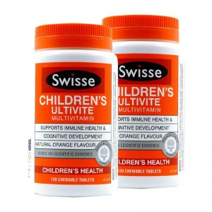 Vitamin cho trẻ em Swisse Children's Ultivite Multivitamin 120 Chewable Tablets - ÚC