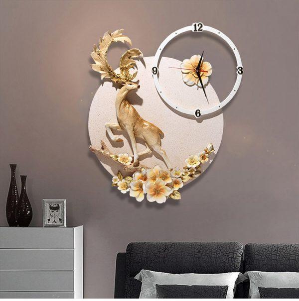 Đồng hồ treo tường trang trí Hoa tuần lộc Z199
